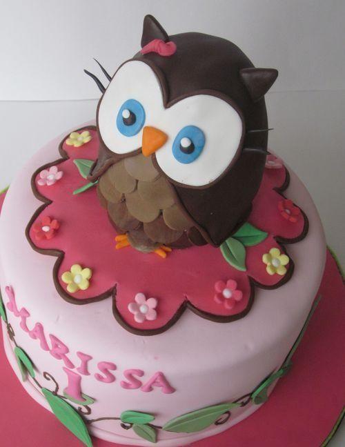 Owl Birthday Cakes Owl Birthday Cake Tinkerbelle Party Ideas
