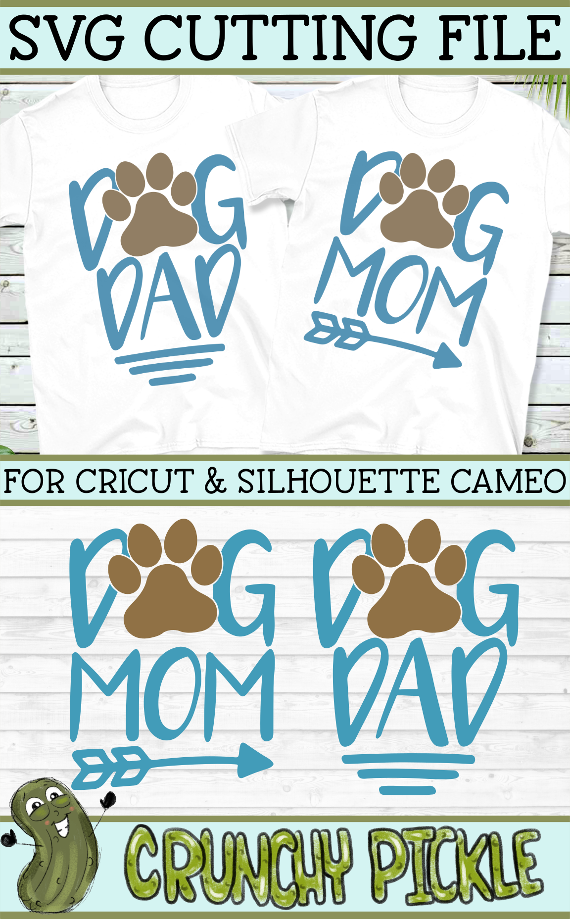 Dog Mom and Dog Dad SVG Dog mom, Dads, Cricut