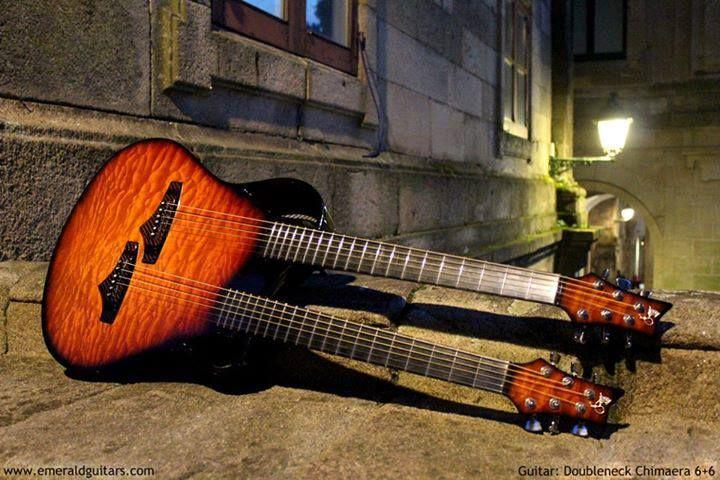 Emerald Guitars Doubleneck Chimaera 6+6... my favorite!