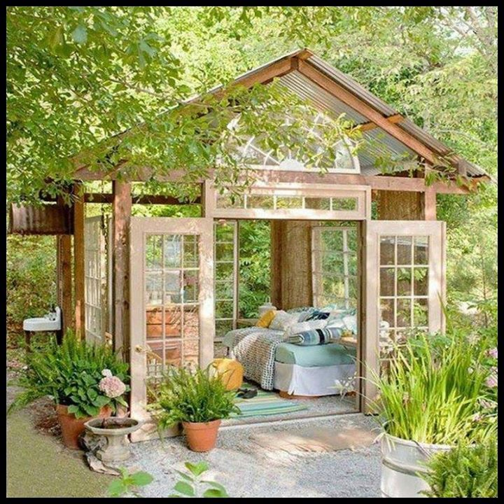 Lovely 20 Cottage Style Landscaping Ideas To Enhance Your: Too Open To Be Called A Shed; Too Closed To Be Called A