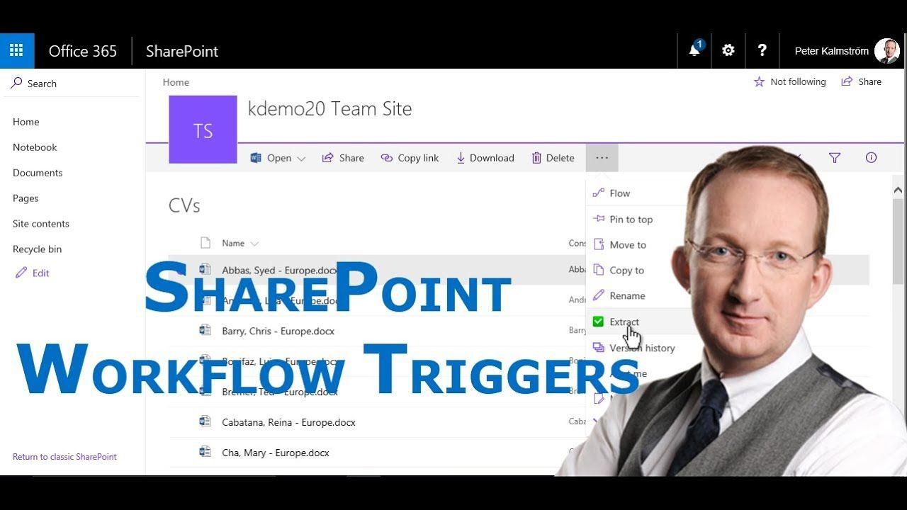 *7 SharePoint Workflow Triggers* Peter Kalmström shows