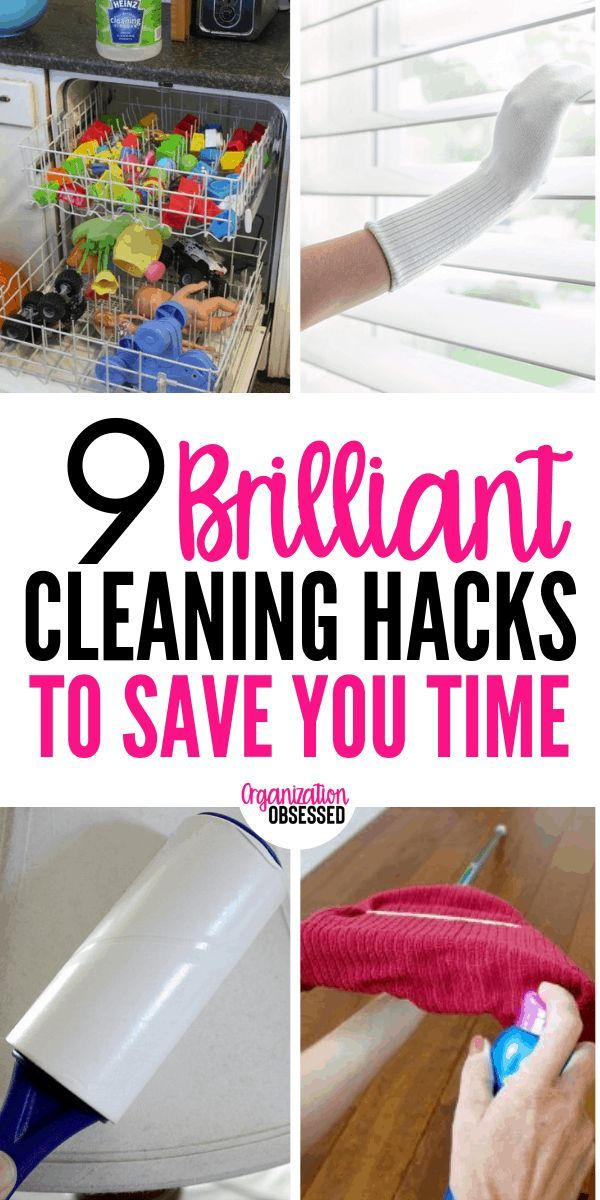9 Cleaning Hacks That Will Save You Tons Of Time - Organization Obsessed