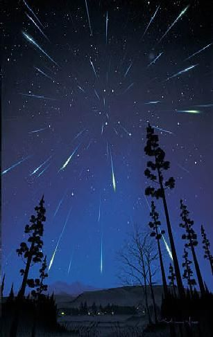I would like to have a star party where guests could take a photo like this  Lluvia de estrellas