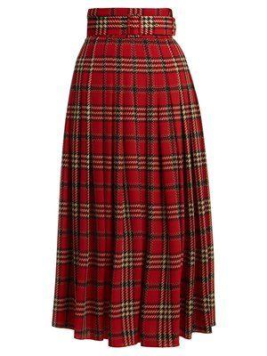 5317cd0a5 Richie tartan-print pleated skirt   Emilia Wickstead   MATCHESFASHION.COM  UK   matches fashion in 2019   Emilia wickstead, Skirts, Red skirt outfits