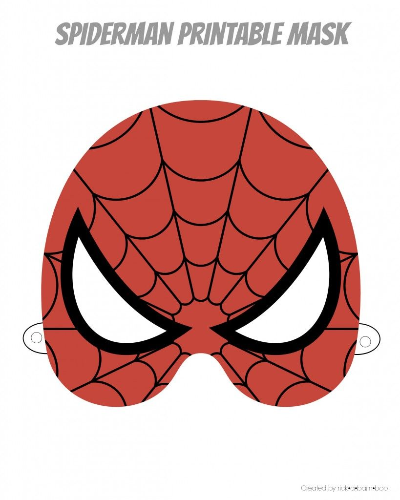 This is an image of Fan Spiderman Mask Printable