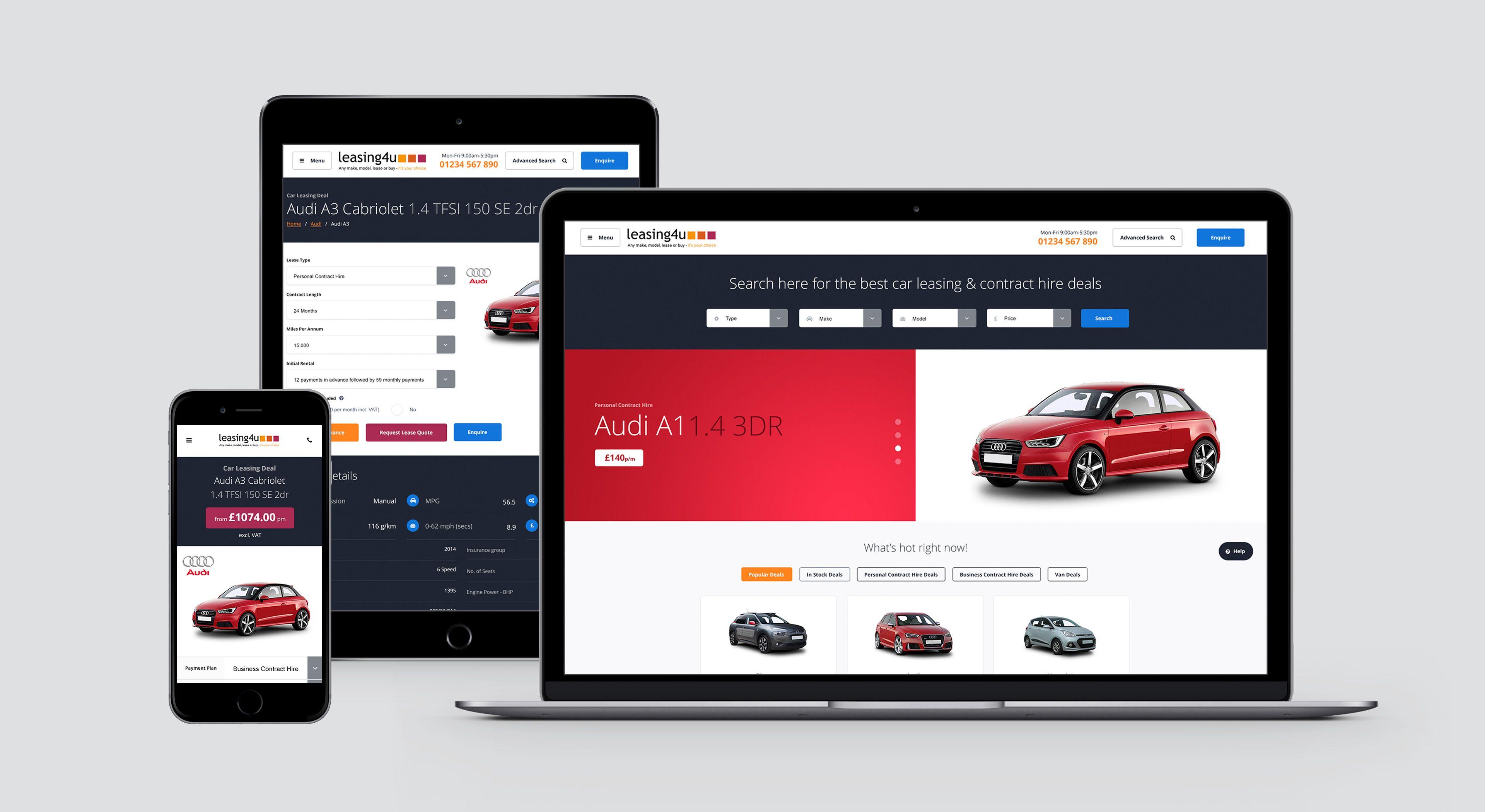 Leasing4u Automotive Website Design By Csi Media In Cheshire Website Design Web Design Agency Web Development Projects