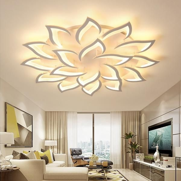 Change The Entire Landscape Of Your Room With Our One Of A Kind Rose Light The Deep Detail And Desi Ceiling Lamps Living Room Rose Lights Modern Ceiling Light