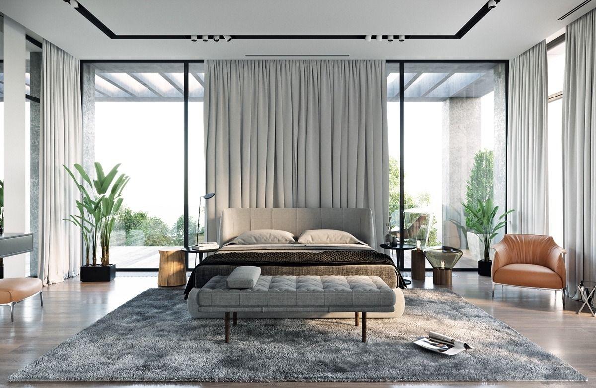 Moderne Haus-Design-Ideen zeigen natürlichen Dekor und Lichter nach ...