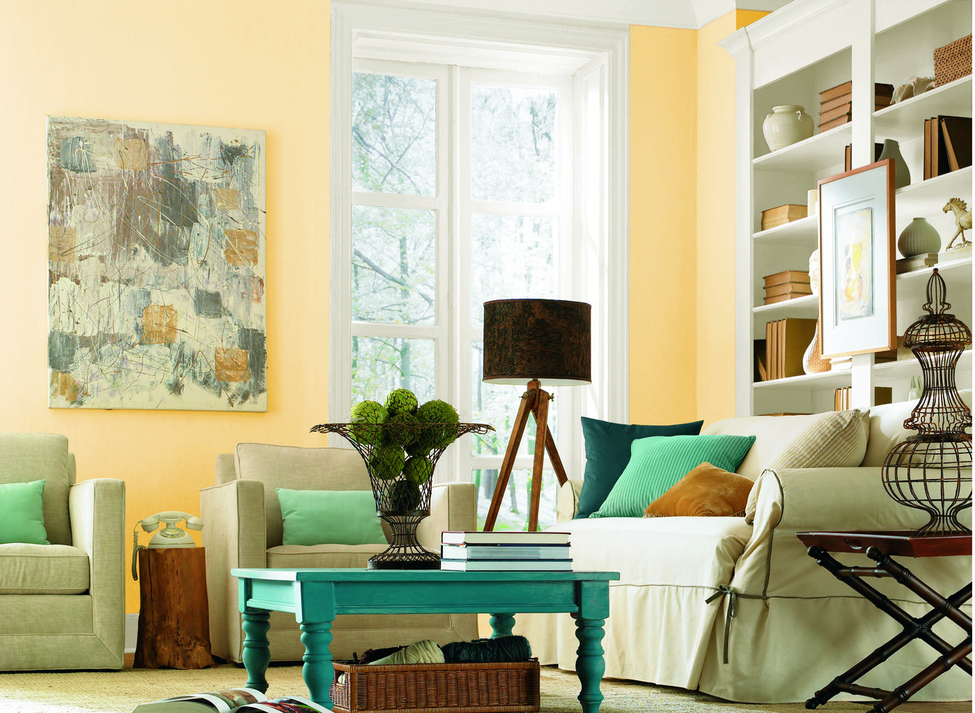 Living Room In Corn Silk By Glidden Very Nice Yellow