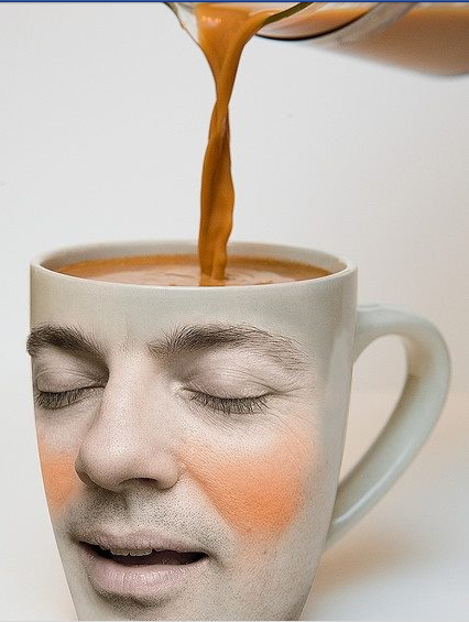 Like someone pouring coffee in your brain. IT'S CALLED