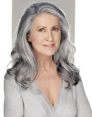 long gray hair -