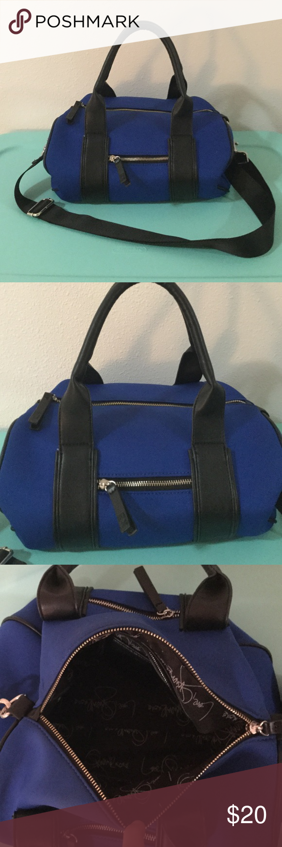 Gx by Gwen Stafani Top Handle Bag Cool blue top handle bag.  Used only a couple of times- great condition!  Comes with cross body strap, one inside zipper pocket and two inside slash pockets. GX by Gwen Stefani Bags Satchels