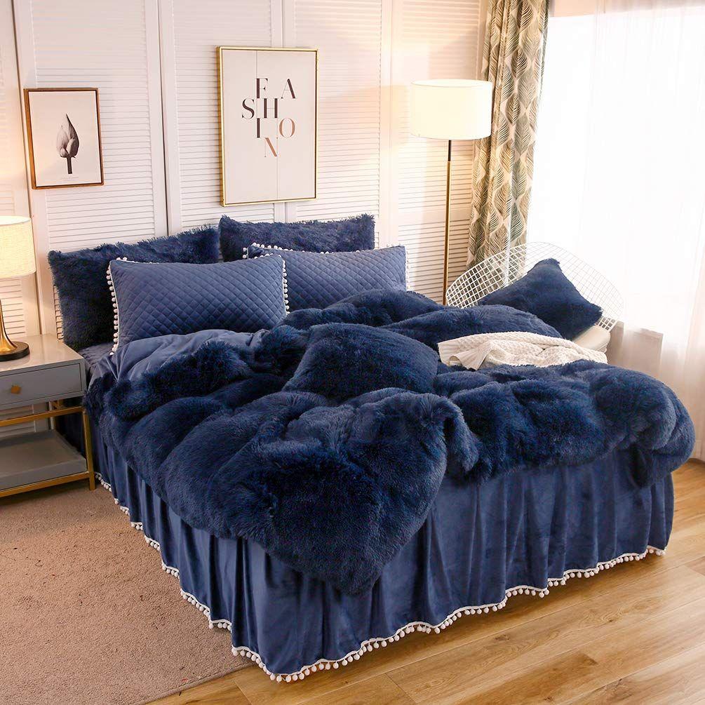 Softy Blue Bed Set In 2020 Blue Bedding Sets Blue Bedding Blue