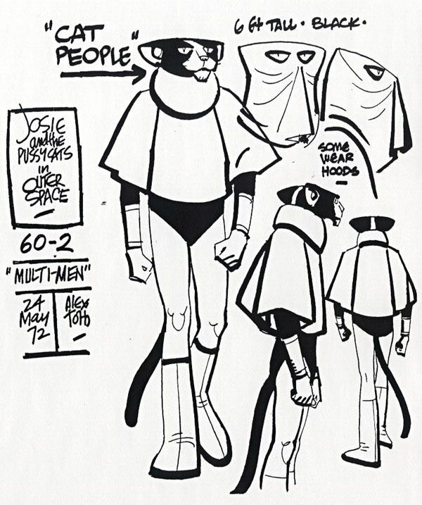 26c0dd7bb64f498cbcb94085f6c91bfe Jpg Imagen Jpeg 600 717 Pixeles Alex Toth Josie And The Pussycats Character Design Inspiration