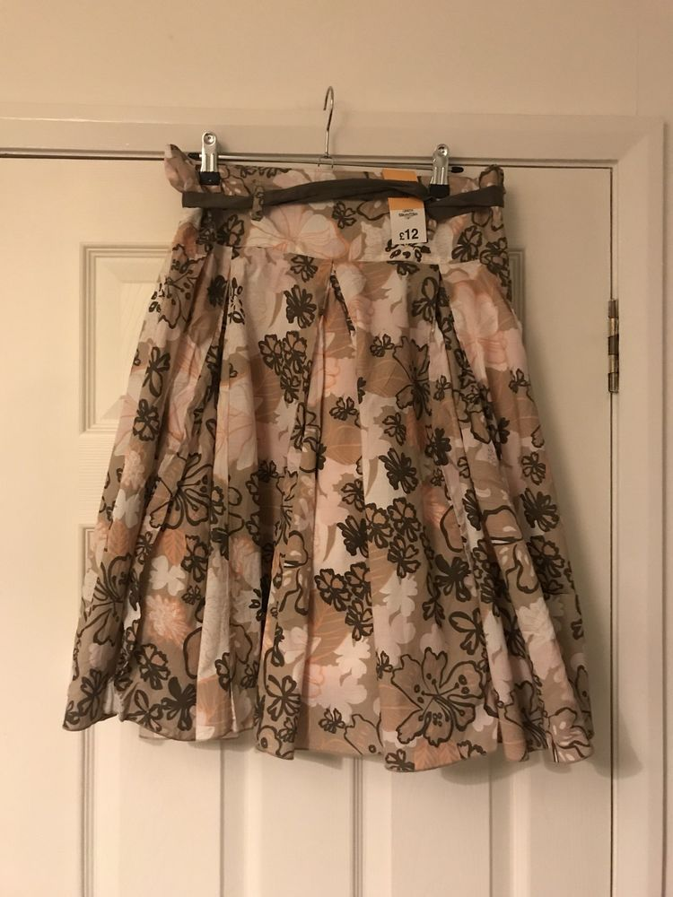 de6909196b Papaya Matalan Womens Floral Midi/Long Skirt Size 10 Small BNWT Brown Coral  #fashion #clothing #shoes #accessories #womensclothing #sweaters (ebay link)