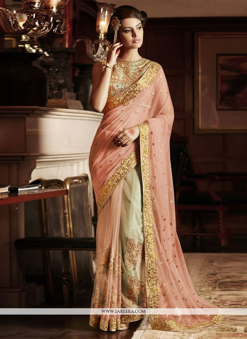 Embroidered work designer saree curves and couture pinterest