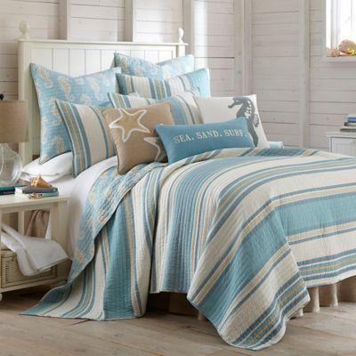 Levtex Home Blue Maui Reversible Quilt Set