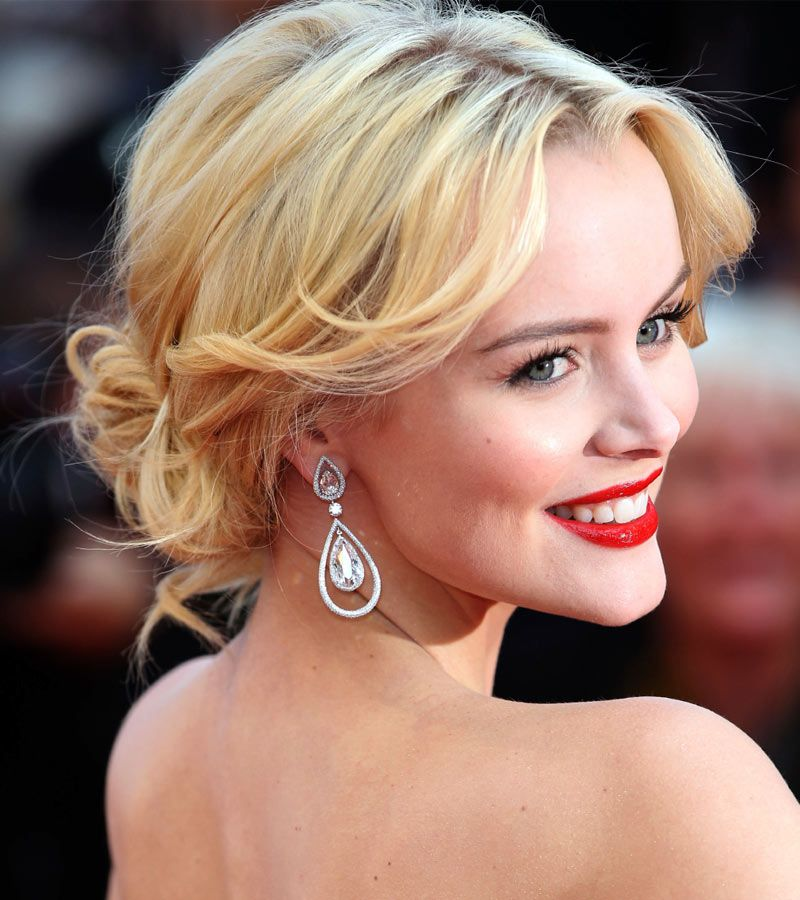 Celebrity Hairstyles For Weddings: Celebrity Updos 2015: Helena Mattsson In A Lovely Tousled