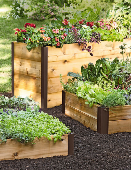 Elevated Cedar Raised Bed Kit, Elevated Bed Made in