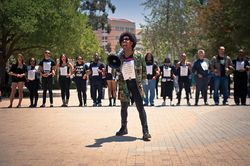 Uci S Black Student Union And Allies At A Recent Protest As An Alumni I Am Very Saddened To Hear About The Racial C Union University Student Police Department