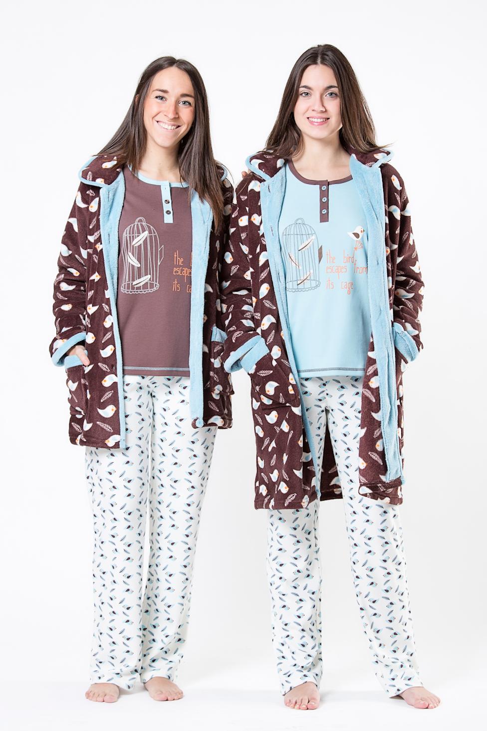 6fb5829f5436a diseño pijamas Cue pájaros woman mujer moda underwear noche bata fashion  Pyjamas