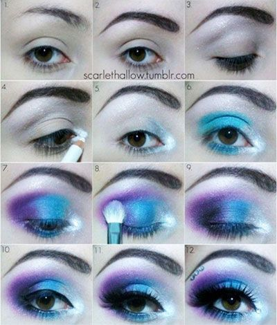 Elsa Makeup From Disney Movie Frozen I Like It Might Actually Look Good Since I Ve Got Blue Eyes Frozen Makeup Elsa Makeup Disney Makeup