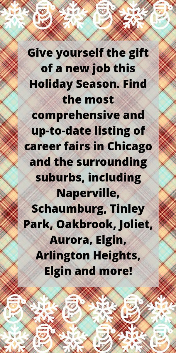 Full listing of career fairs in Chicago and surrounding suburbs - resume writers chicago