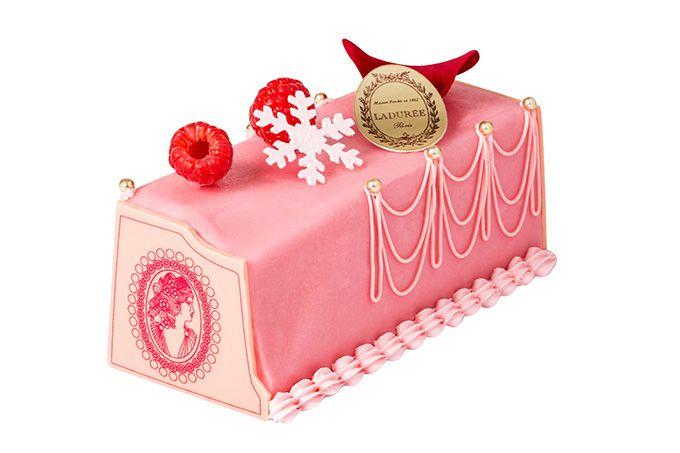 ラデュレからクリスマス限定のビュッシュ・ド・ノエルコレクション、ローズ&ピスタチオの贅沢な味わい | クリスマスケーキ, ひなまつり ケーキ, ラデュレ