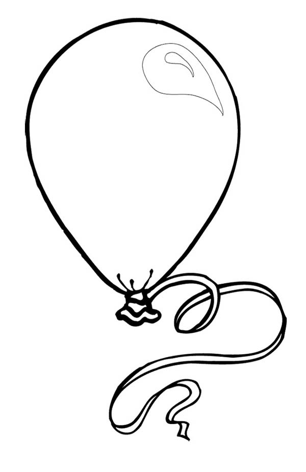 The Big New Year Balloon Coloring Page Coloring Sky In 2020 Birthday Coloring Pages Coloring Pages Balloons