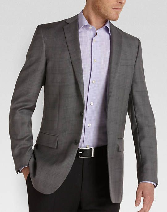 Egara Gray Plaid Slim Fit Sport Coat | Things to Wear to look good ...