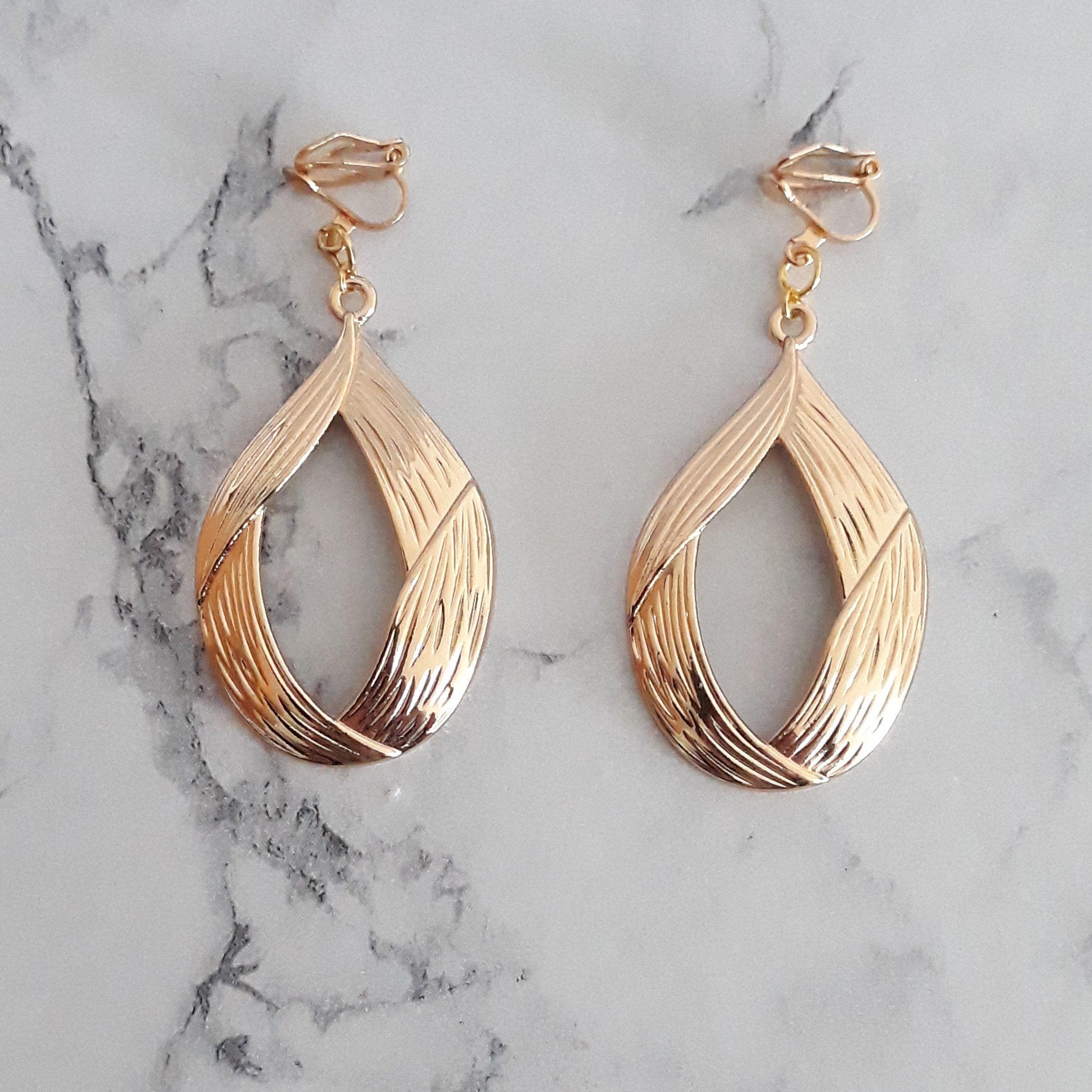 Boucles d/'oreilles créole dorées 5 cms Idée cadeau Bijoux fantaisie