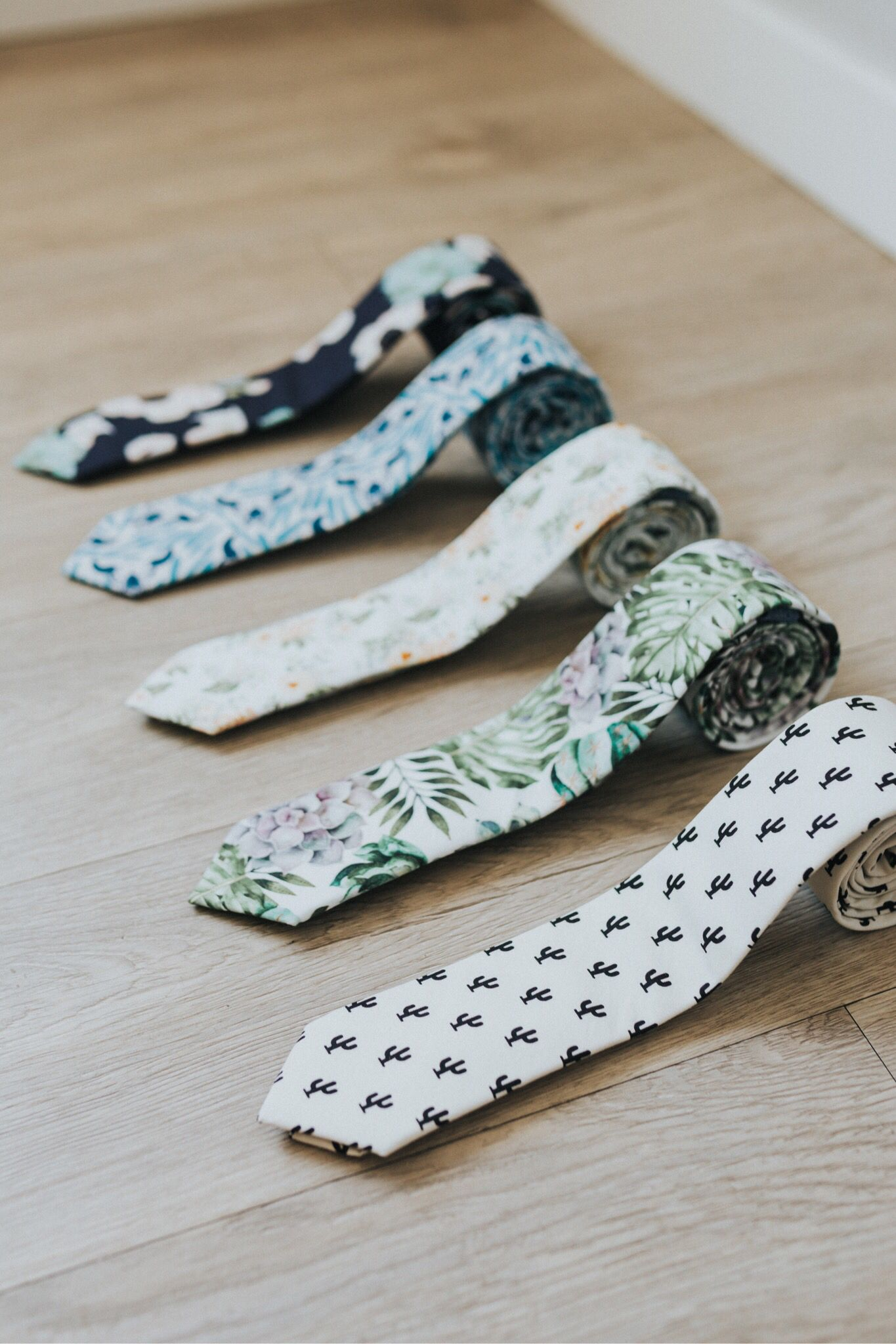 350be99ecc4a Floral skinny ties, cactus ties, and succulent ties. Only the best ...