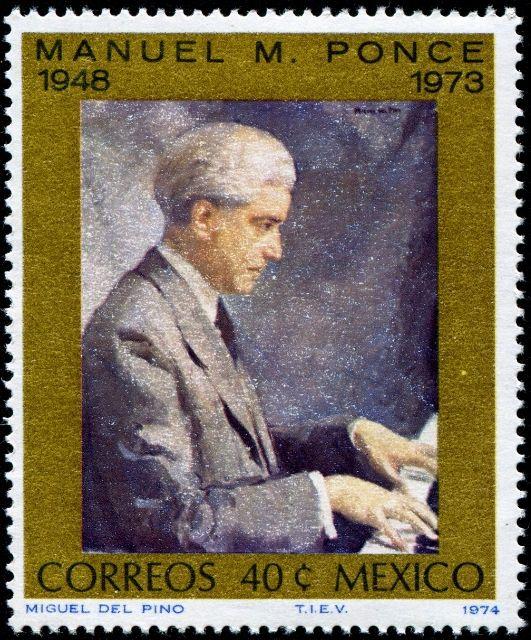 México 1973 - Manuel María Ponce Cuéllar fue un músico y compositor mexicano.