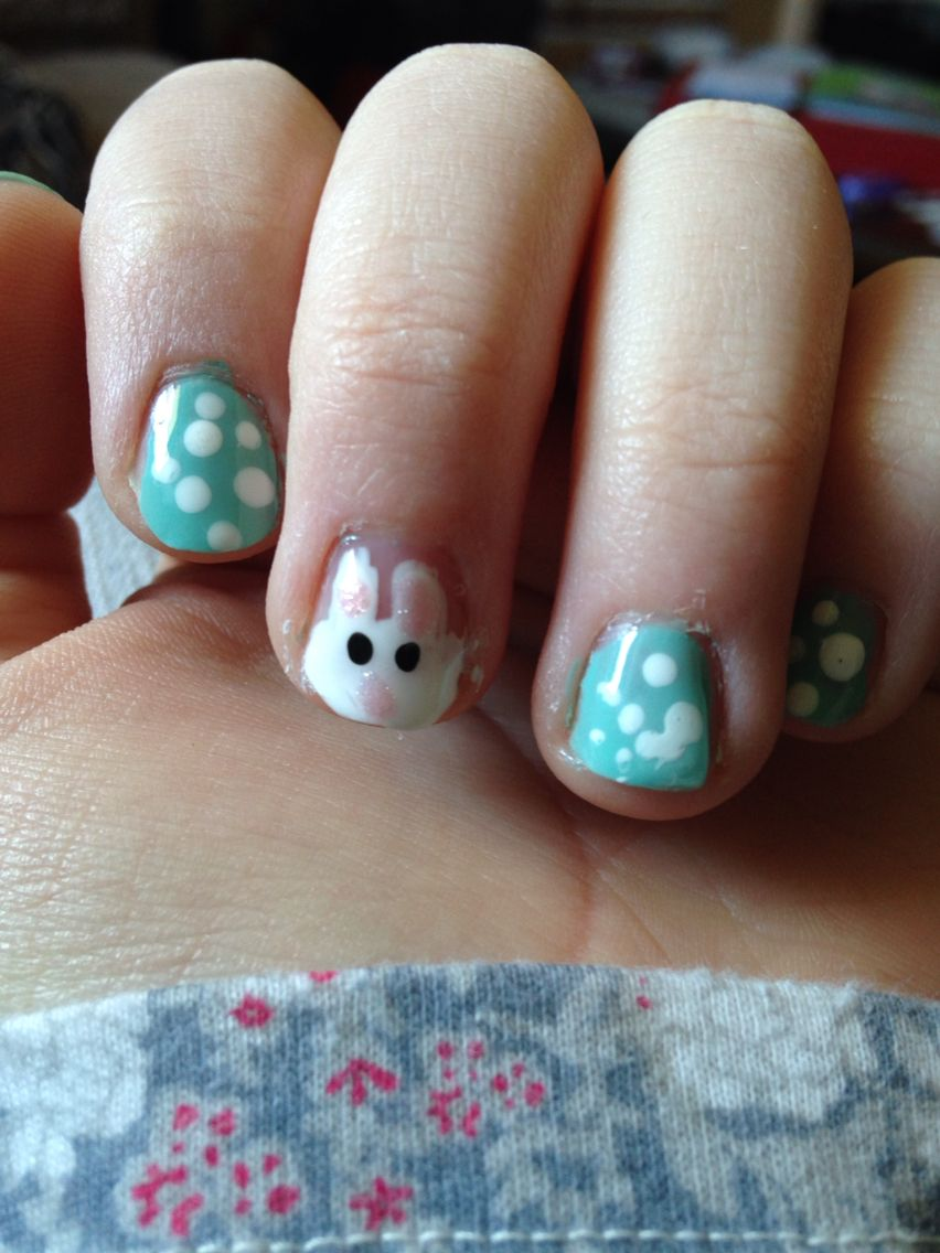 Easy easter nails nifty nails pinterest easter nails