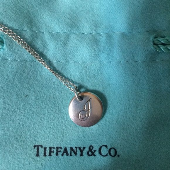 Tiffany initial necklace sterling silver tiffany j initial pendant tiffany initial necklace sterling silver tiffany j initial pendant chain is 16 inches aloadofball Gallery
