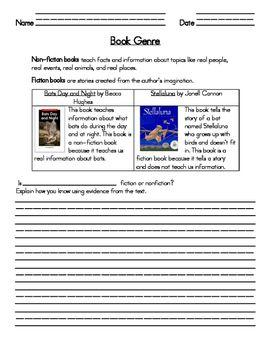 Determine If Book Is Fiction Vs Nonfiction Worksheet Fiction Vs Nonfiction Nonfiction Nonfiction Texts