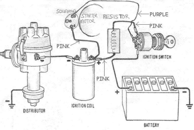 wiring diagram for ballast resistor