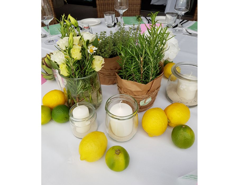 Photo of Bryllup borddekorasjoner sommer – gifte seg i Gütersloh klubbhus – sitron urter …