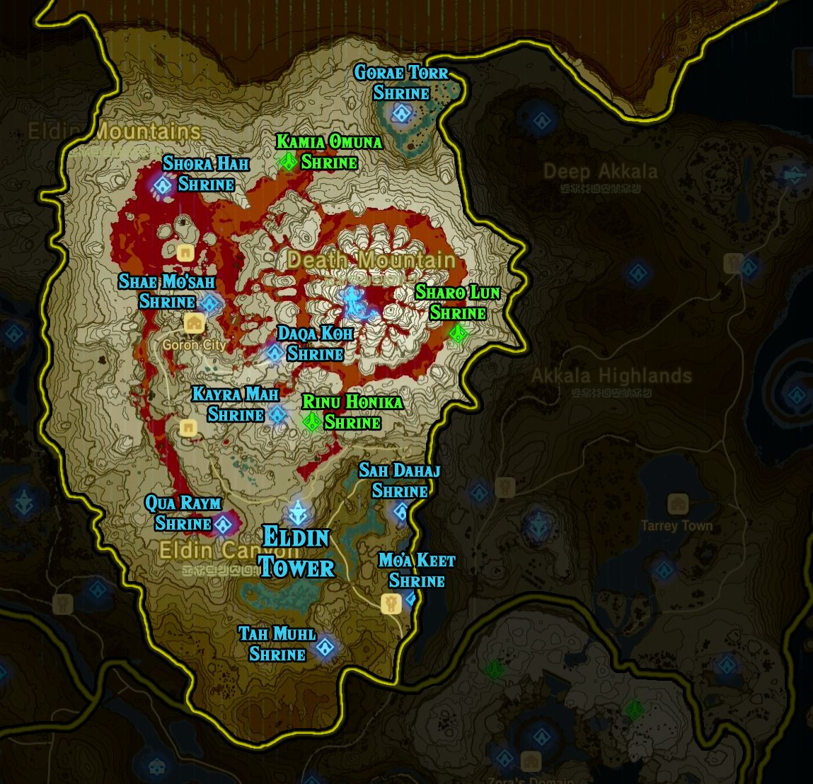 Zelda Breath Of The Wild Shrine Maps And Locations Zelda Breath