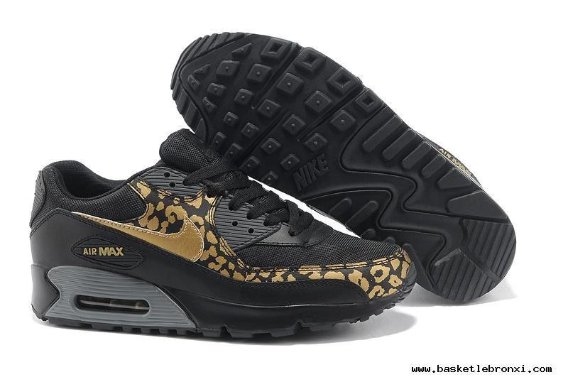 womens nike air max 90 black and gold