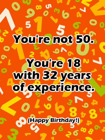 Happy 50th Birthday Funny : happy, birthday, funny, Funny, Happy, Birthday, Greeting, Cards, Davia, Ecards,, Birthday,