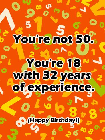 Funny Happy 50th Birthday Card Birthday Greeting Cards By Davia Happy Birthday Funny Ecards Happy 50 Birthday Funny 50th Birthday Quotes