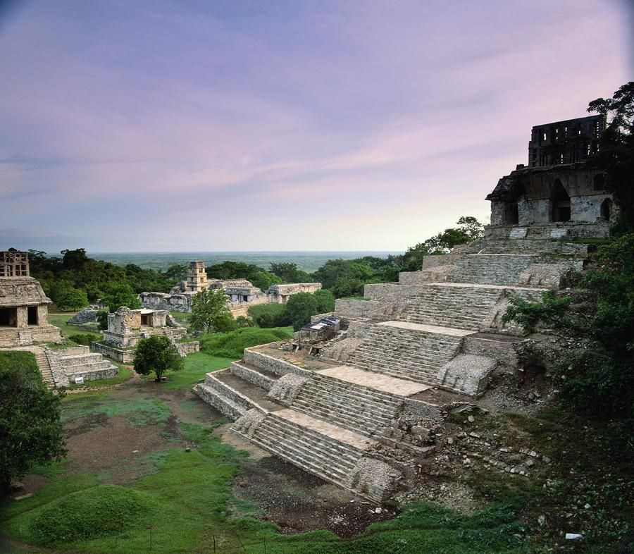 View Of The Mayan Ruins At Palenque - Mexico