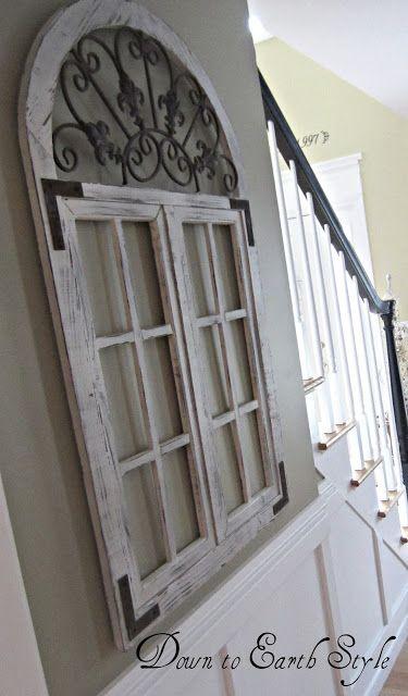 Kris Steve S Dining Room Old Window Frames Arched Window