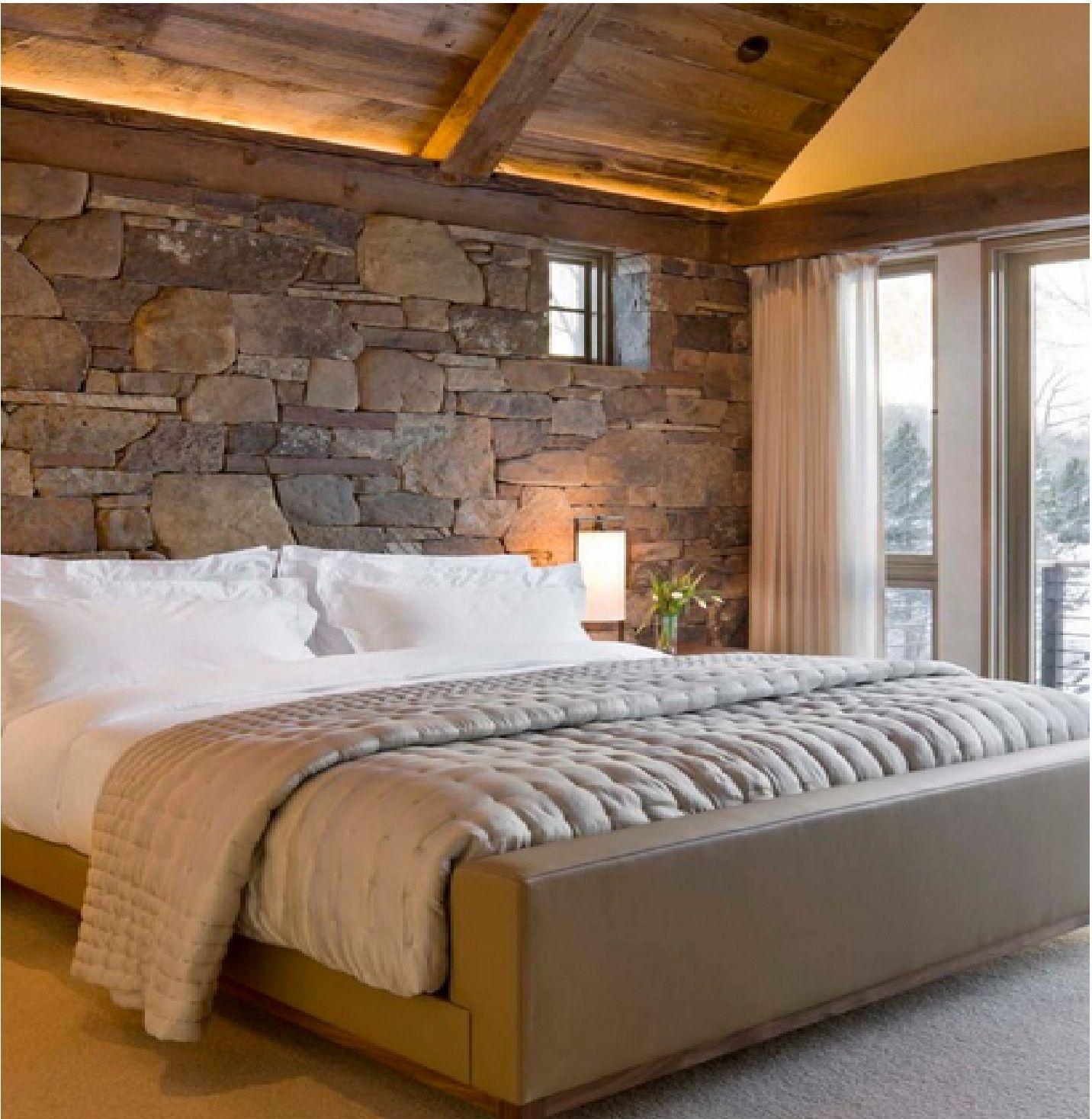 piedra, dormitorio | RUSTICO | Pinterest | Piedra, Dormitorio y Casas