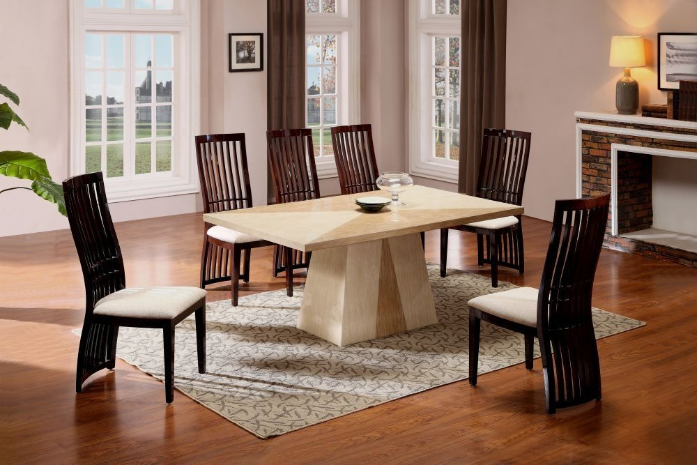 Exclusive Quartz Marble Dining Table With 6 Chairs  Dining Table Custom Dining Room Tables With Marble Top Design Ideas