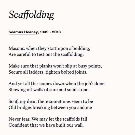 Seamus heaney poetry essays