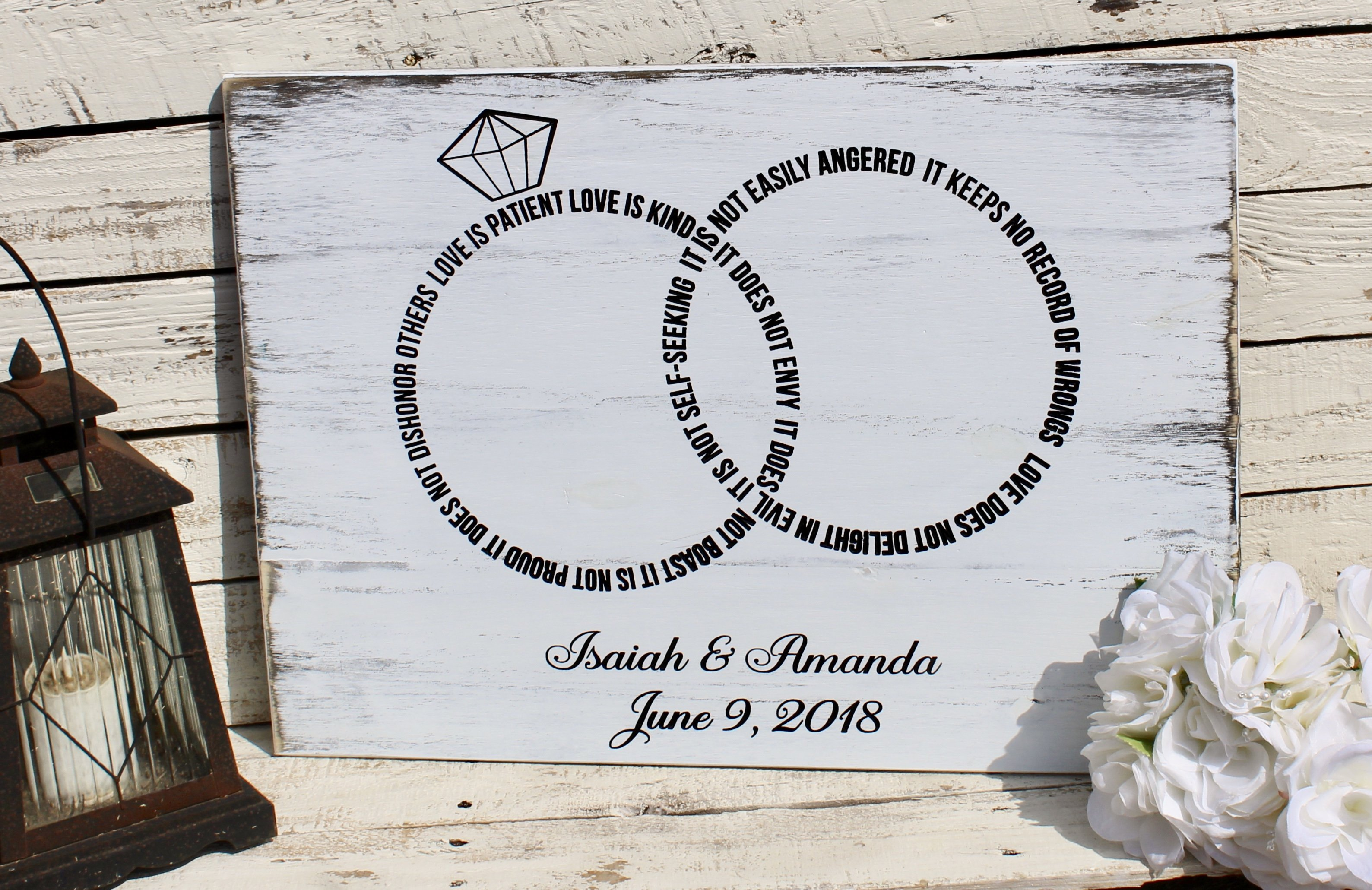 Personalized wedding gift for the couple, 9 Corinthians 93 in