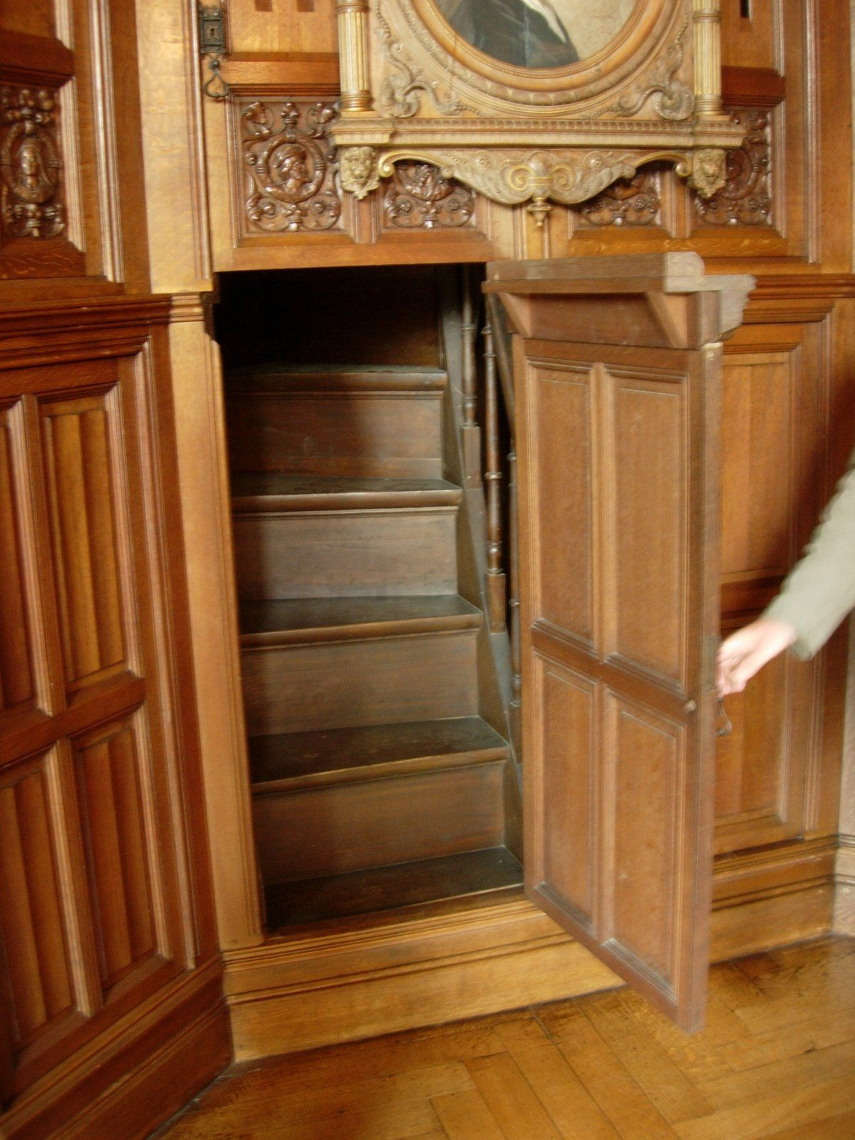 Secret door leads to a secret staircase More & Murphy Door Presents Top 5 Secret Doors in History | Pinterest ...