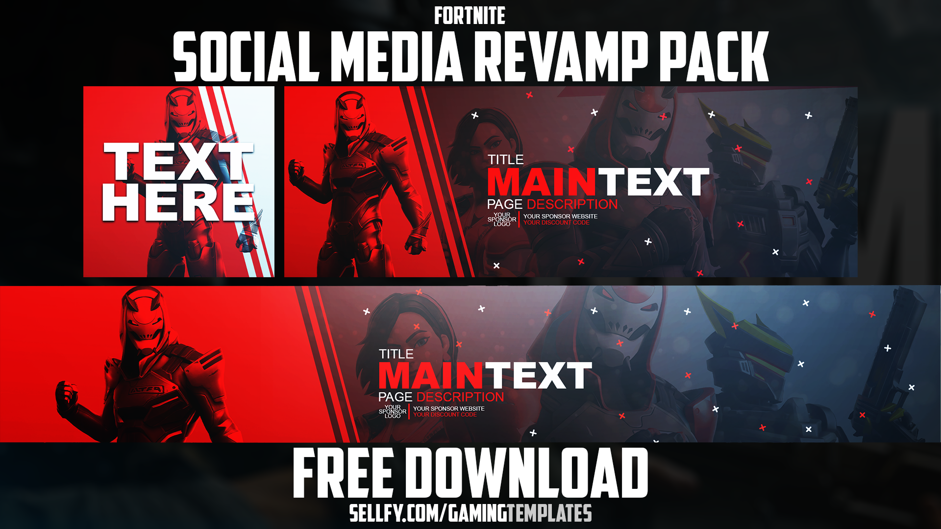 Fortnite Season 9 Social Media Revamp Pack 2 Youtube